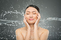 Splash on face Royalty Free Stock Photo