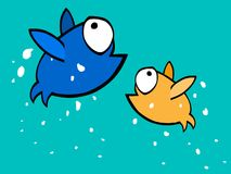 Splash Fish. An illustration completely drawn and coloured in macromedia flash Stock Image