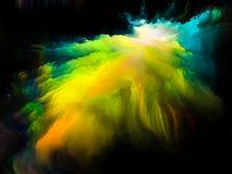 Splash of Fractal Brush Stock Photo