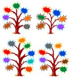 Splash frames tree designs Stock Photos