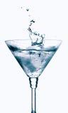 Splash From Ice Cube In Martini Glass