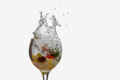 Splash fruit cocktail Royalty Free Stock Photos