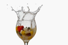 Splash fruit cocktail Stock Photos