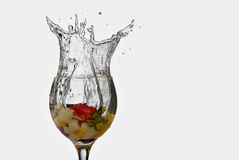Splash fruit cocktail Royalty Free Stock Photography