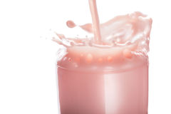 Splash of fruit milk Royalty Free Stock Photography