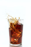 Splash in a glass Stock Photos