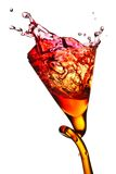 Splash in a glass Royalty Free Stock Image