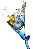 Splash in a glass royalty free stock images