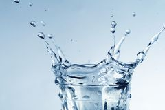 Splash in glass Stock Photography