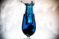 Splash in a glass Royalty Free Stock Photo