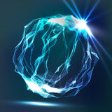 Splash Of Glowing Particles. Futuristic Cyber Backdrop. Flying Debris. 3D Vector Illustration. Royalty Free Stock Images