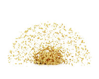 Splash of gold liquid Royalty Free Stock Images
