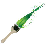 Splash of green paint Stock Image