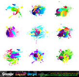 Splash Grunge Design Elements Collection Royalty Free Stock Photos
