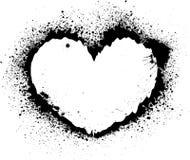 Splash heart. Abstract shape of heart on ink splash royalty free illustration