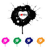Splash hearts. Abstract splash hearts. Valentine's Day Stock Photography