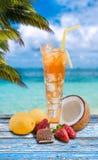 Splash of iced tea Stock Images