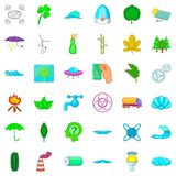 Splash icons set, cartoon style Stock Photos