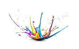 Splash. Illustration of a cmyk color splash