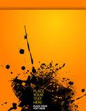 Splash illustration on orange paper. Stock Photo