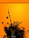 Splash illustration on orange paper. Stock Photo