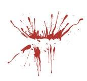 Splash inkblot,blood. Drawing of red inkblot in a white background vector illustration