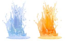 Splash - isolated on white Stock Images