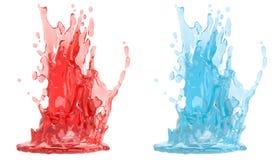 Splash - isolated on white Stock Image