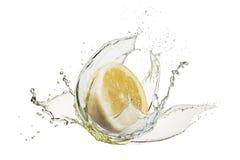 Splash lemons juice Royalty Free Stock Image
