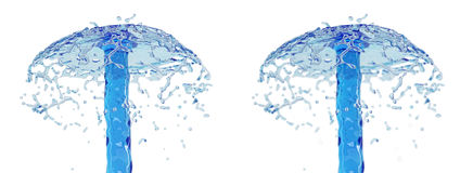 Splash - liquid splash - with and without DOF effect. Stock Images