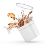 A splash of milk and chocolate Stock Images