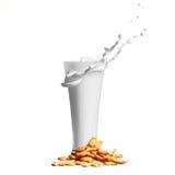 Splash milk in glass Royalty Free Stock Photography