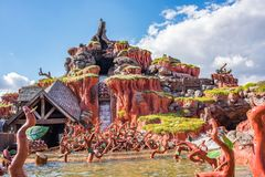 Splash Mountain at The Magic Kingdom, Walt Disney World. Orlando, Florida: December 2, 2017: Splash Mountain at The Magic Kingdom, Walt Disney World. In 2016 stock photography