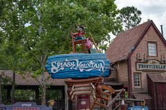 Splash Mountain sign in Magic Kingdom at Walt Disney World .