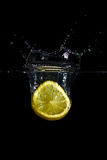 Splash Of Lemon Stock Photo