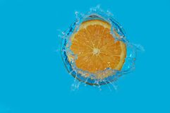 Splash orange royalty free stock image