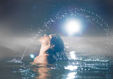Splash out of the water Stock Photography