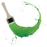 Splash of paint. With brush stroke. Vector illustration Royalty Free Stock Photos
