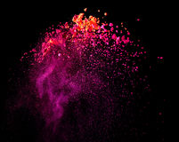 Splash of paint. On black background royalty free stock photos