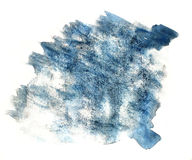 Splash paint blue blot watercolour color water ink isolated wate Stock Images