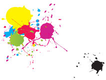 Splash Painting stock images