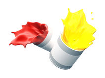 Splash of paints Royalty Free Stock Images