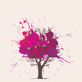 Splash pink  tree Stock Photos