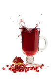 Splash of pomegranate juice Stock Image