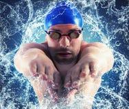 Splash professional swimmer Stock Image