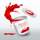 Splash Red paint. Realistic 3D image. HiRes, Vector EPS10 file. 100% Layered and editable. Good for all sizes Royalty Free Stock Photography