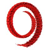 Splash of red paint twisted into spiral. 3d rendering Royalty Free Stock Photos