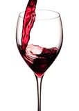 Splash of a red wine isolated on a white background Stock Photo