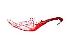 Splash of red wine Stock Photo