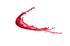 Splash of red wine Royalty Free Stock Photos